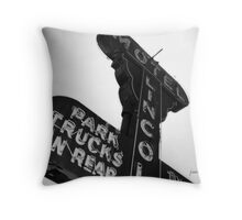 Vintage Sign 2 Throw Pillow
