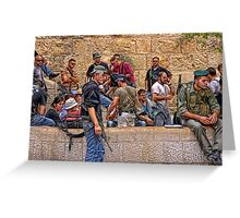 Soldier in Israel Greeting Card
