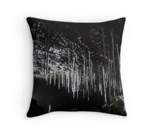delicate calcite formations in Ogof Ffynnon Ddu cave, South Wales Throw Pillow