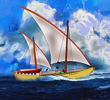 An Ancient Arab Dhow - all products bar duvet by Dennis Melling