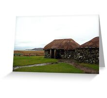 Isle of Skye Thatched Cottages Greeting Card