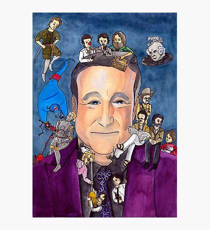 Robin Williams W/ back Photographic Print