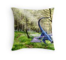 Woodland Dragon Throw Pillow