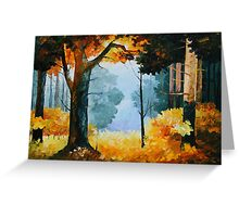 PINE WOOD limited edition giclee of L.AFREMOV painting Greeting Card