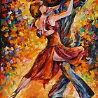 IN THE RITM OF TANGO limited edition giclee of L.AFREMOV painting by LeonidAfremov
