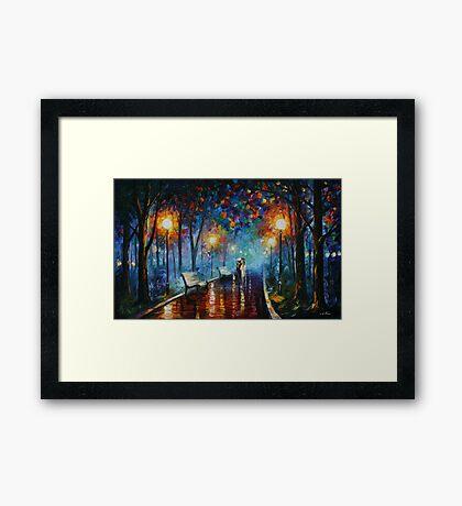 MISTY MOOD limited edition giclee of L.AFREMOV painting Framed Print
