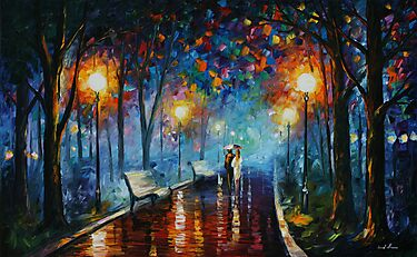 MISTY MOOD limited edition giclee of L.AFREMOV painting by LeonidAfremov