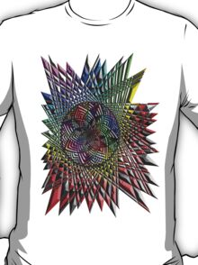 Flower Mandala Embossed T-Shirt