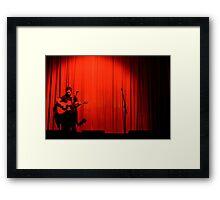 Curtain raise Framed Print