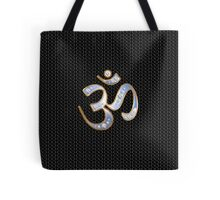 OM, gold and silver, reflecting infinite sky Tote Bag