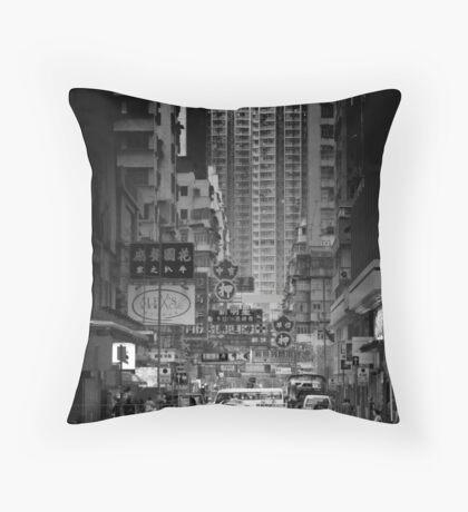 Street of Hong Kong Throw Pillow
