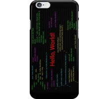 Hello, World! iPhone Case/Skin