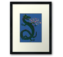 Flower-breathing Dragon Framed Print