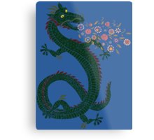 Flower-breathing Dragon Metal Print
