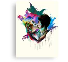 Across the Universe - Strawberry Kiss Canvas Print