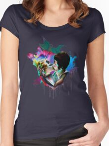 Across the Universe - Strawberry Kiss Women's Fitted Scoop T-Shirt