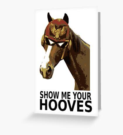 Captain Falcon Horse Greeting Card