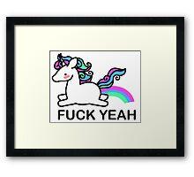 Pastel coloured unicorn Framed Print