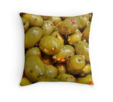 The Art of the Perfect Olive Throw Pillow