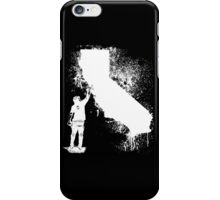 California Wall tagger white iPhone Case/Skin