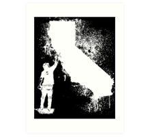 California Wall tagger white Art Print