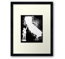 California Wall tagger white Framed Print