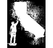 California Wall tagger white Photographic Print