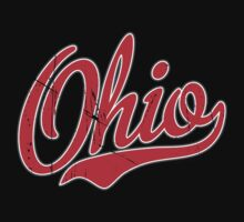 Ohio Script VINTAGE Red by USAswagg2