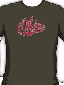 Ohio Script VINTAGE Red T-Shirt
