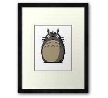 Trixel Totoro Framed Print