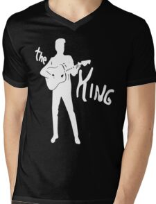 the king of rock on dark Mens V-Neck T-Shirt