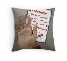 Suicidal note Throw Pillow