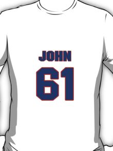 National football player John Gianninoto jersey 61 T-Shirt