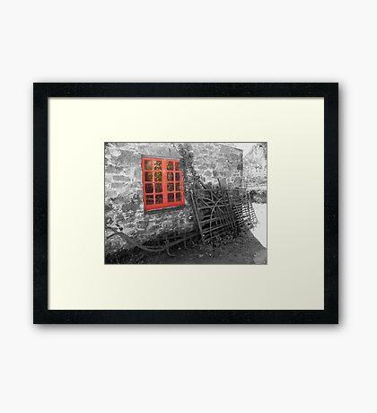 red window ... Framed Print
