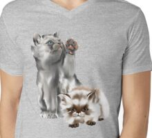 Small Kitties Mens V-Neck T-Shirt