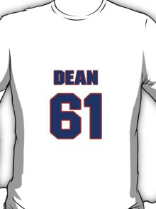 National football player Dean Caliguire jersey 61 T-Shirt