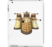 Golden Dalek Trio iPad Case/Skin