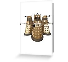 Golden Dalek Trio Greeting Card
