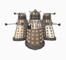 Golden Dalek Trio by kobalos