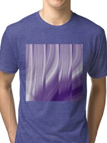 modern cute girly abstract pattern purple Tri-blend T-Shirt