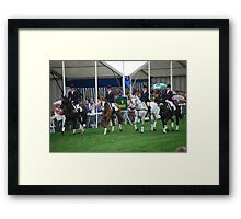 The British Team. Framed Print