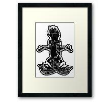 Meditating Monkey Framed Print