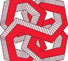 Perspective knot red by Studio-Tako