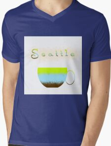 Pacific Northwest Coffee Lovers Mens V-Neck T-Shirt
