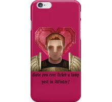 Have you ever licked a lamp post? iPhone Case/Skin