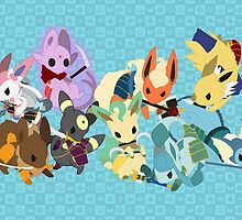 Eeveelution Poster by Lawrence-Lore