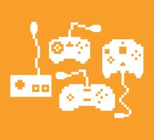 Pixel History - Sega Controllers (White) by The World Of Pootermobile
