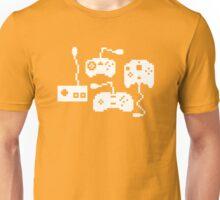 Pixel History - Sega Controllers (White) Unisex T-Shirt