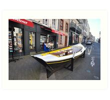 Granville, France 2012 - Reading Boat Art Print