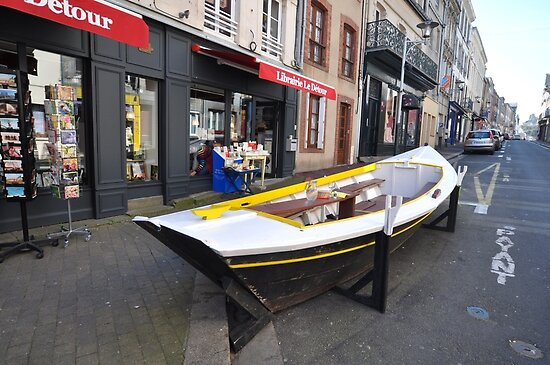 Granville, France 2012 - Reading Boat by muz2142